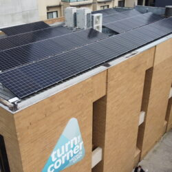 Solar panel installation at the clinic
